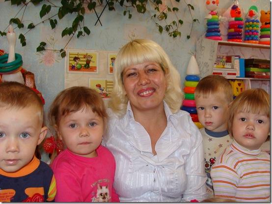 О.В.Чибисова с детьми