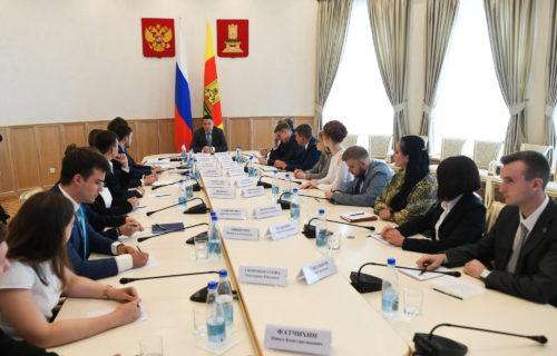 Игорь Руденя обсудил с членами Молодёжного правительства Тверской области совместную работу по развитию региона